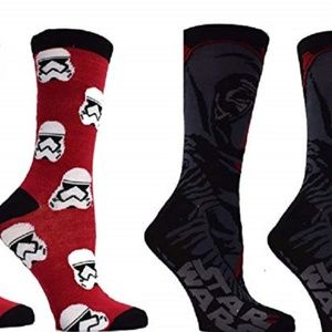 STAR WARS KYLO STORMTROOPERS MEN'S CREW SOCKS 2 PR